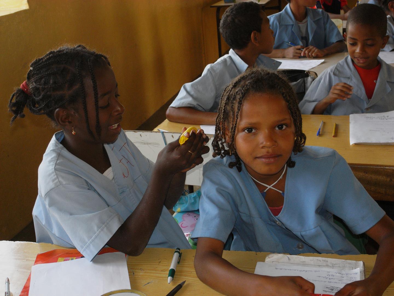 in der Schule, Cap Verde