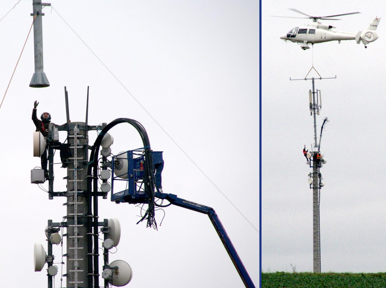 In der Schwebe (6): Mobilfunkmast-Montage 3