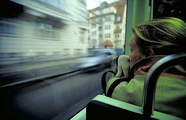 In der Straßenbahn