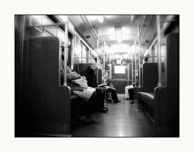 in der U-Bahn..