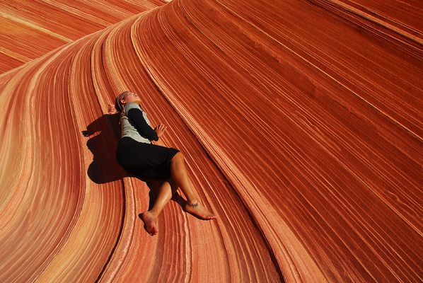 In der Wave, Coyote Buttes, Utah, USA