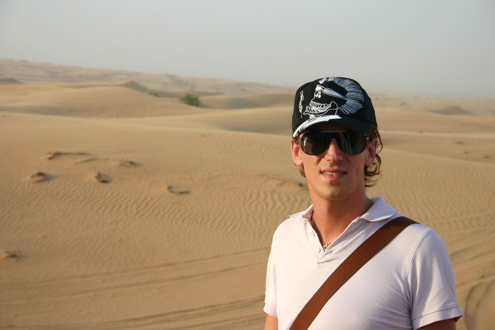 in die wüste geschickt.........