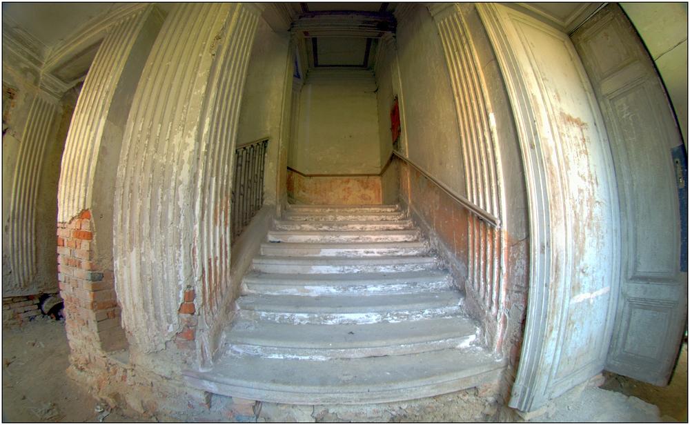 ... in einem der Treppenhäuser ...