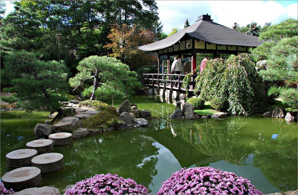 Japanische Gärten in einem japanischen garten foto bild landschaft garten