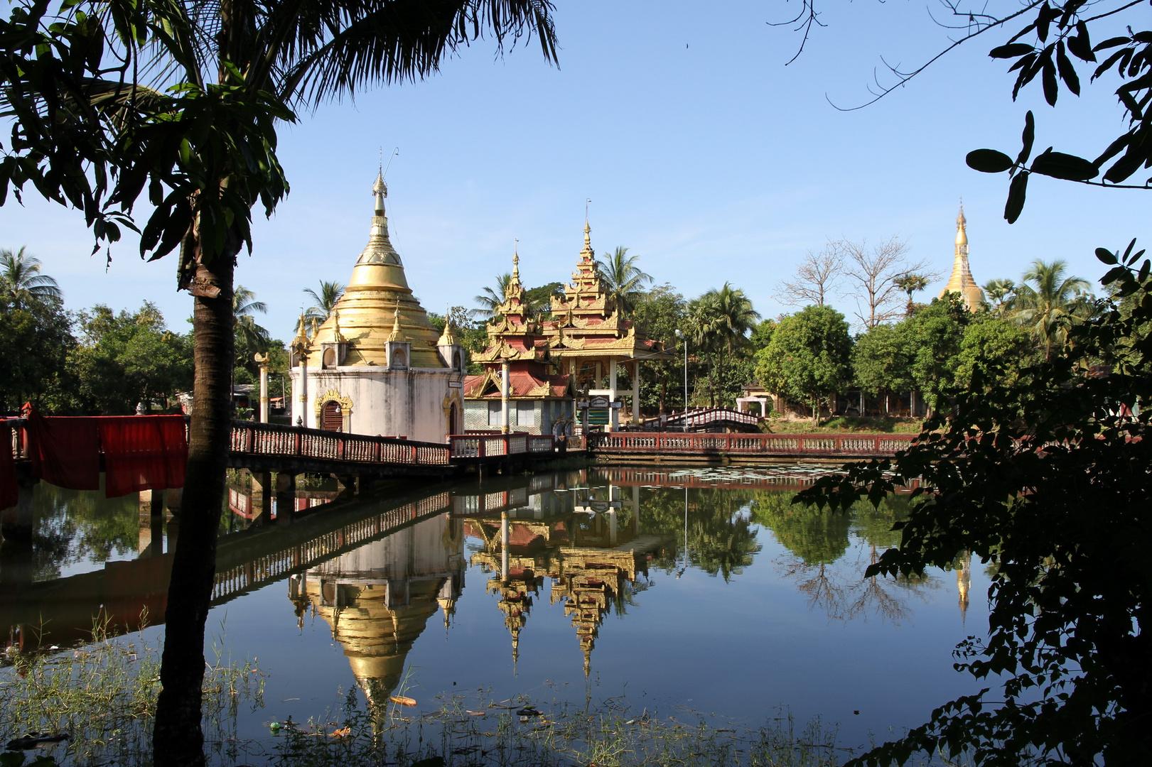 in einem Kloster in Bago Myanmar