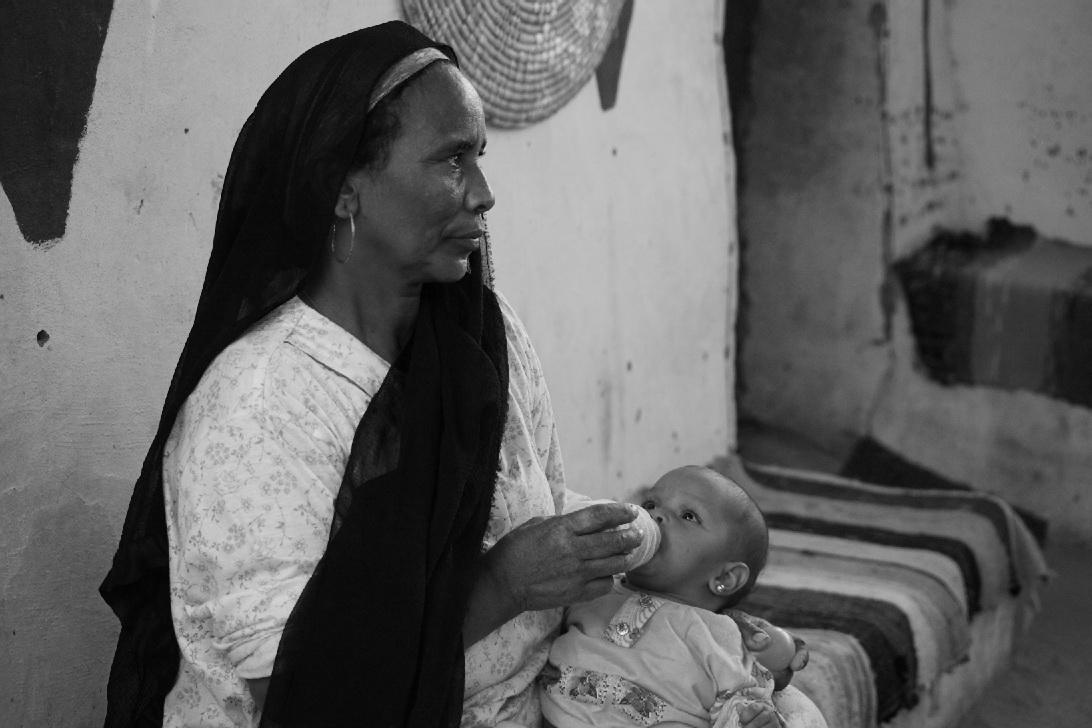 in einem nubischen Dorf südlich von Assuan, Ägypten