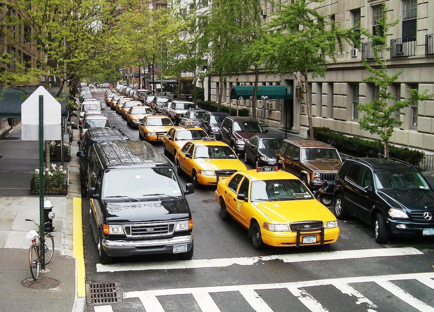 in einem Taxi durch NY