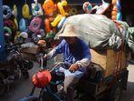 In einer der verwinkelten Gassen des Tempelmarkts