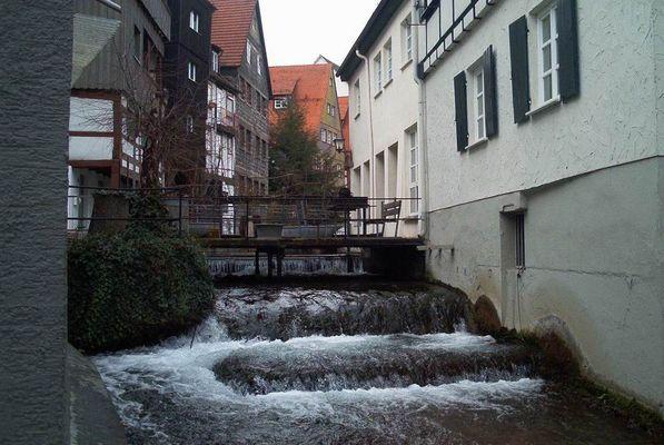 In einer Gasse in Ulm