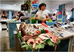 In fish market