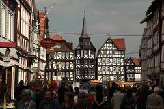 In Fritzlar gibt es wunderschöne Fachwerkhäuser.