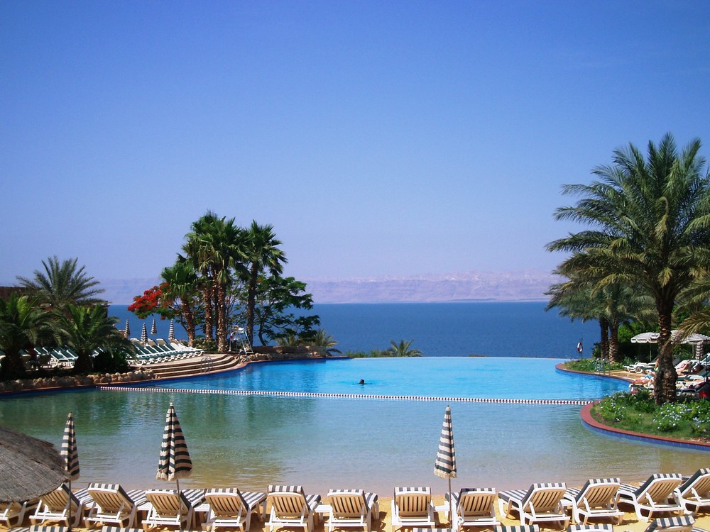 In front of dead sea