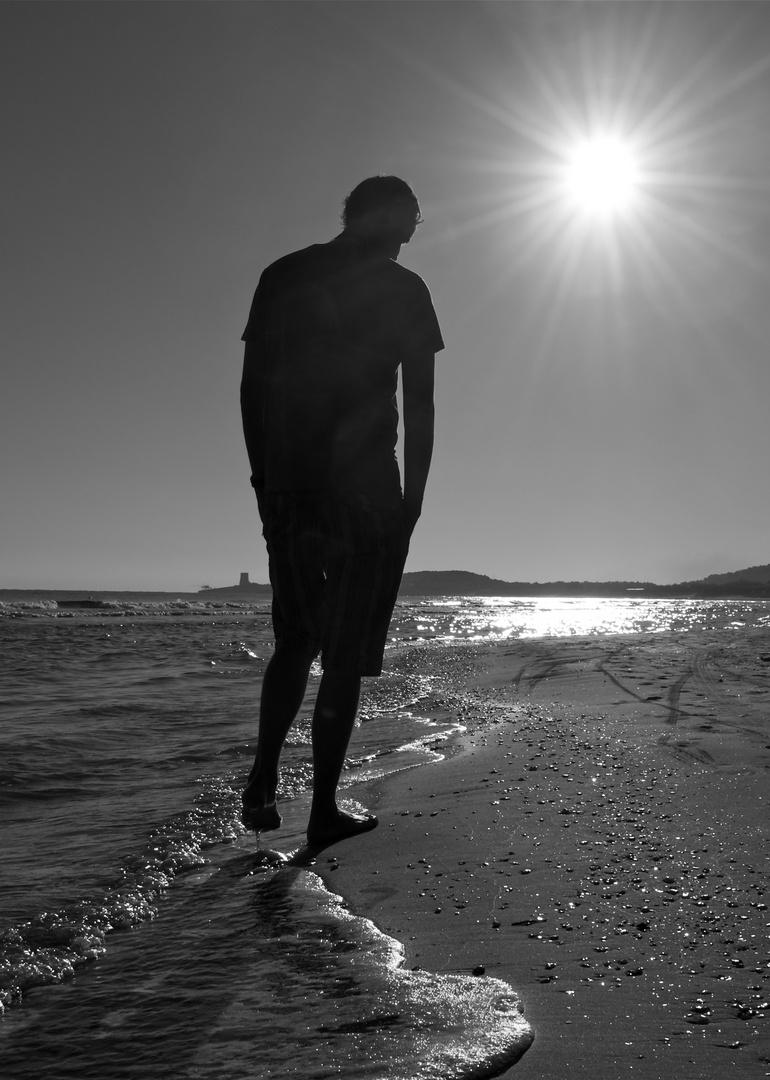 in Gedanken am Strand