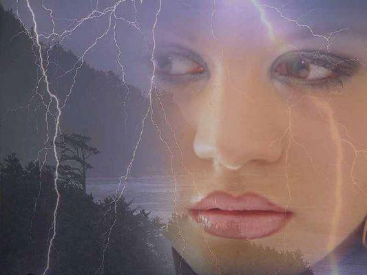 in Gedanken bei Blitz und Donner