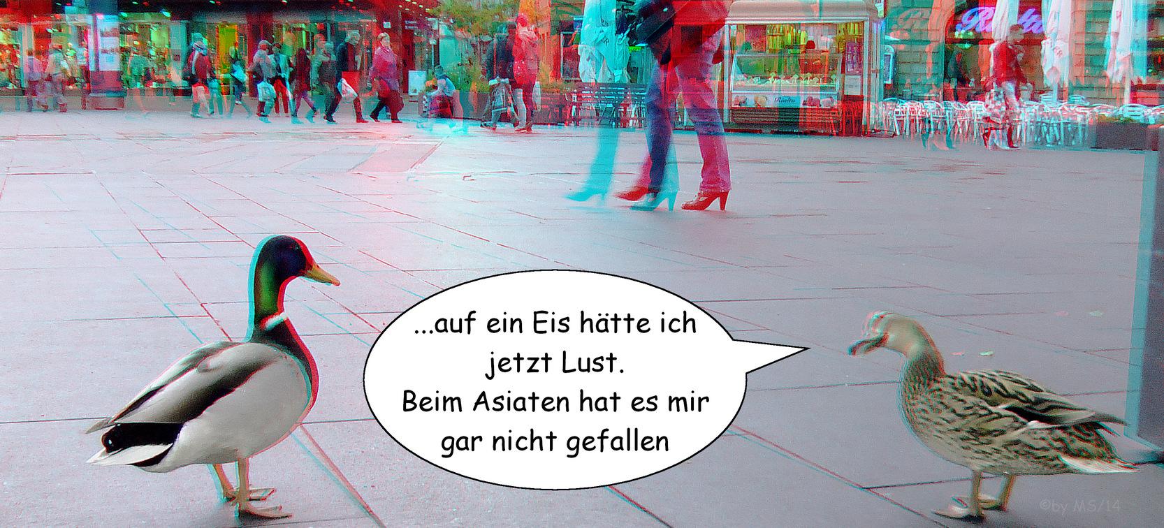 in Halle auf dem Markt (3D-Foto)