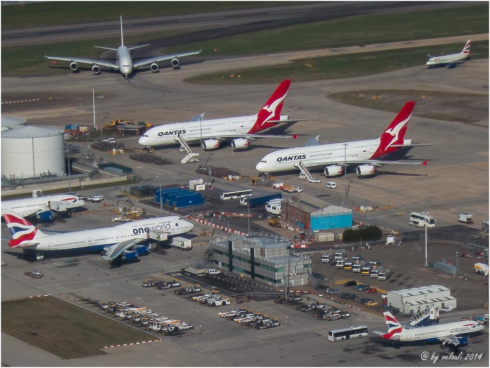 in London Heathrow sieht man sie alle