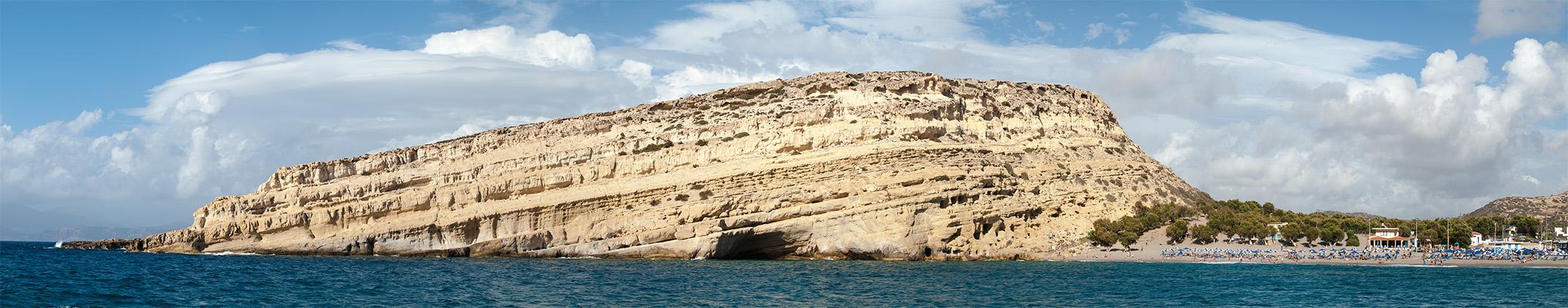 in Matala auf Kreta