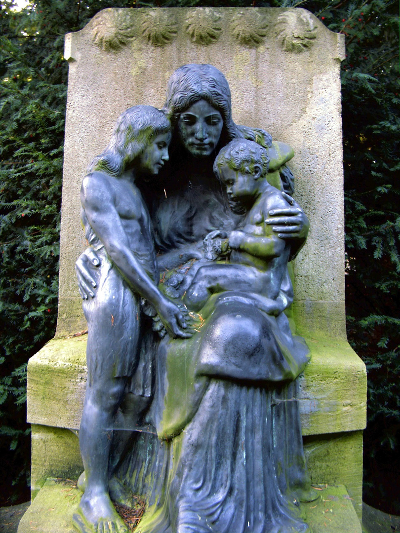 In mothers arms