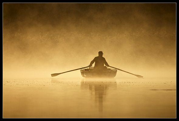 in Nebel gehüllt