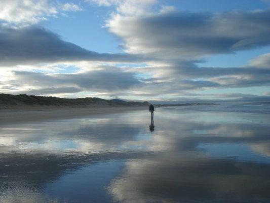 In Nordirland am Strand...