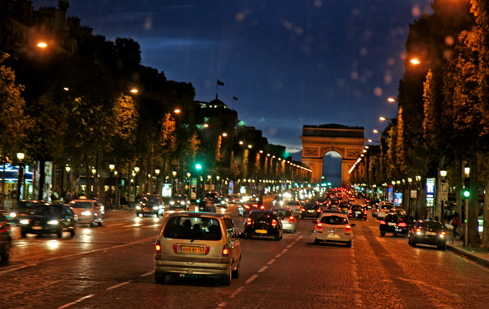 In Paris unterwegs
