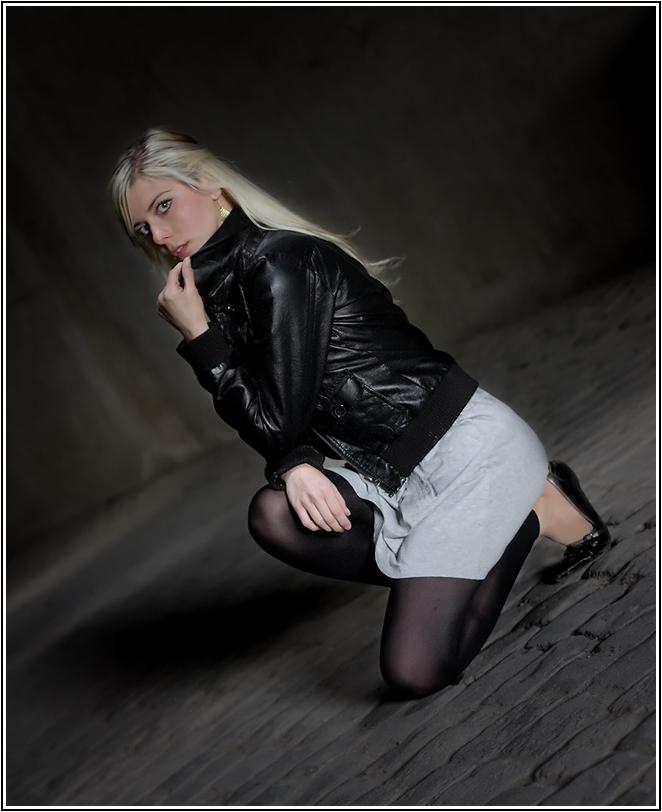 in the dark.......