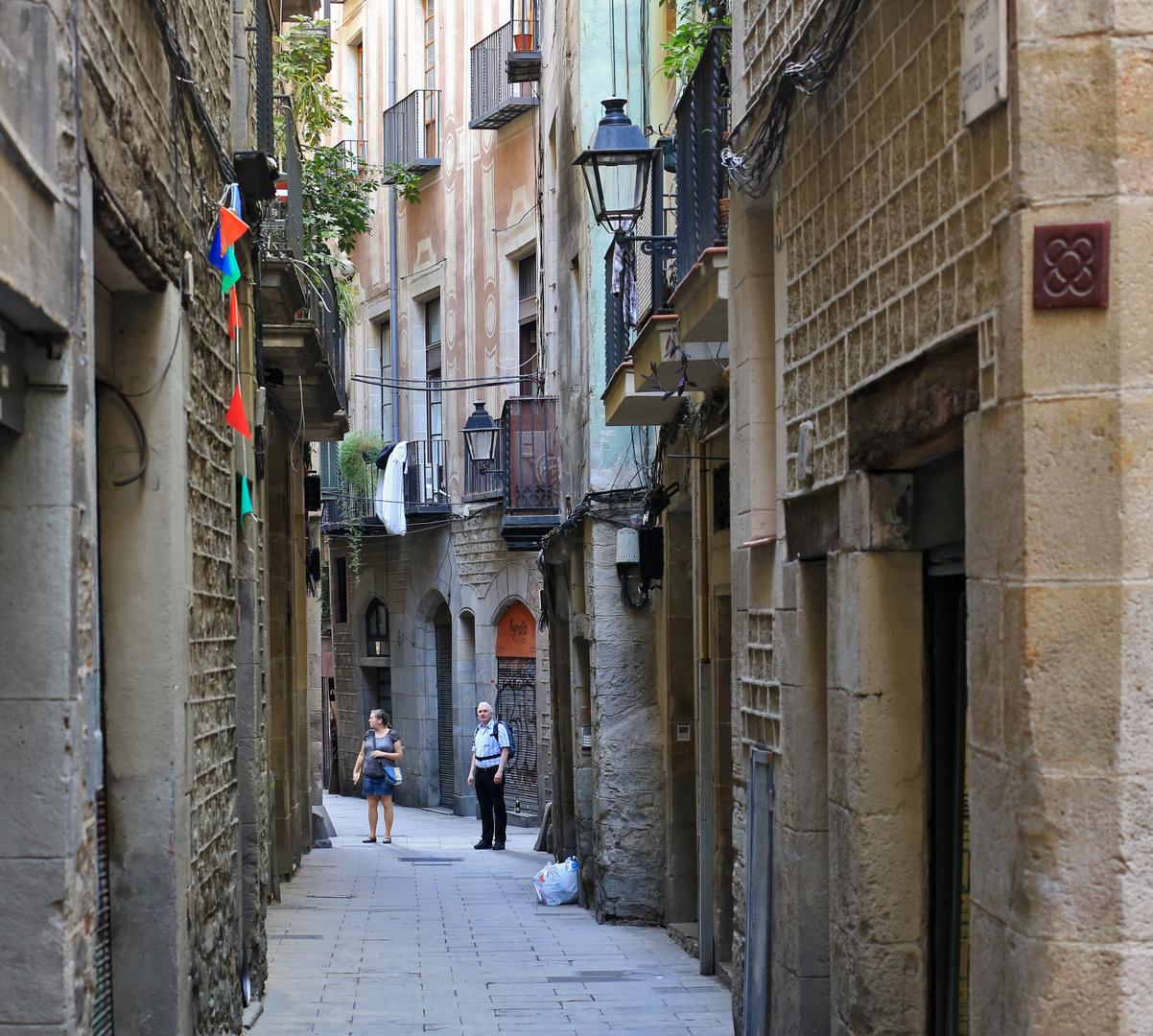 In the dark streets of Barcelona