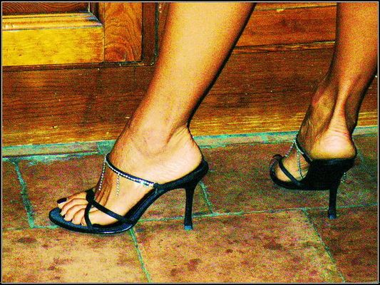 In the kitchen with High-Heels