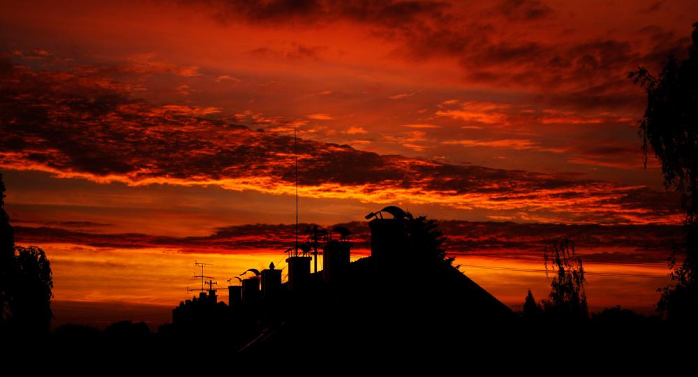 in the morning sky
