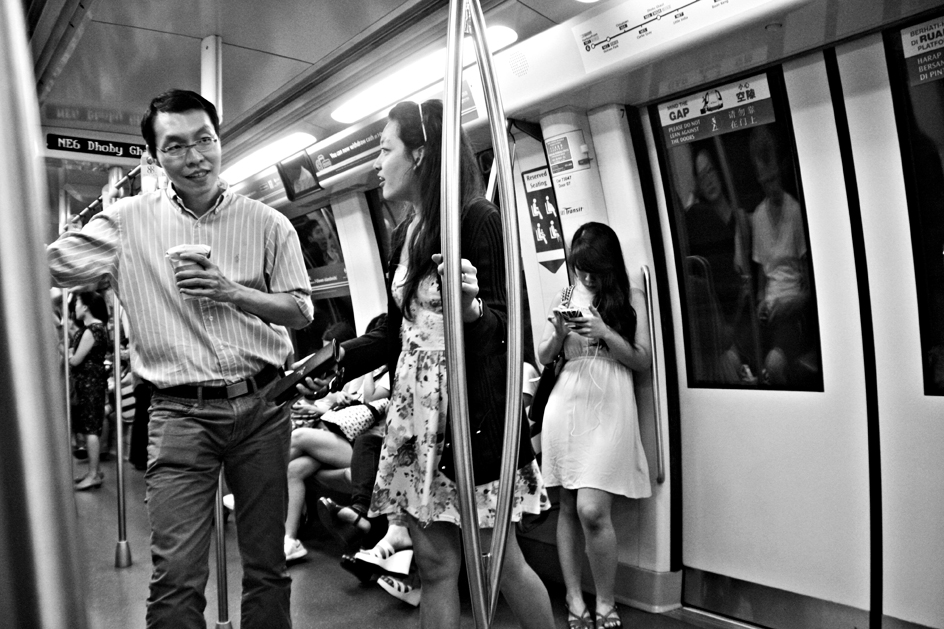 In the MRT of Singapore on August 30th 2013