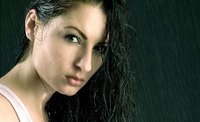 .in the rain.