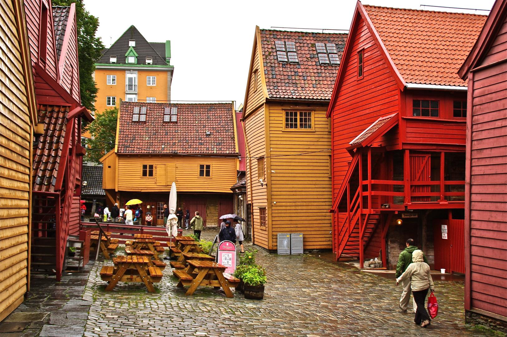 In The Rain In Bergen.