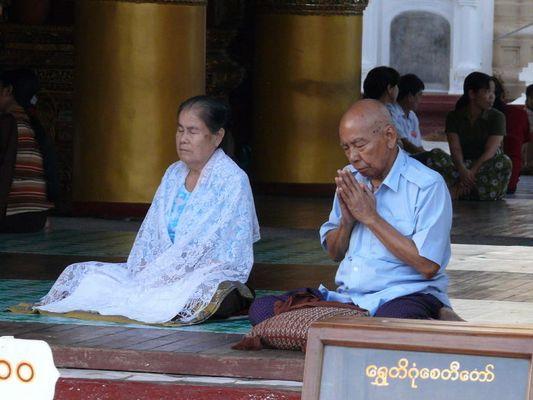 In the Shewagon Pagoda