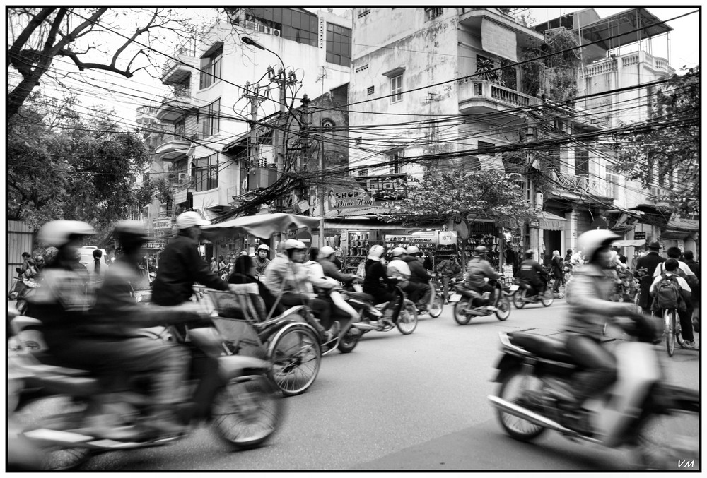 In the streets of Hanoi...