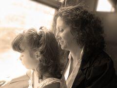 In treno con mamma