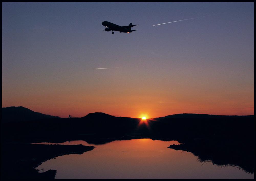 in wenigen Minuten treffen Sie in Zurich Airport ein...