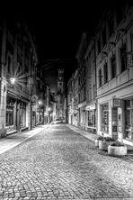 In Zittau bei Nacht s/w