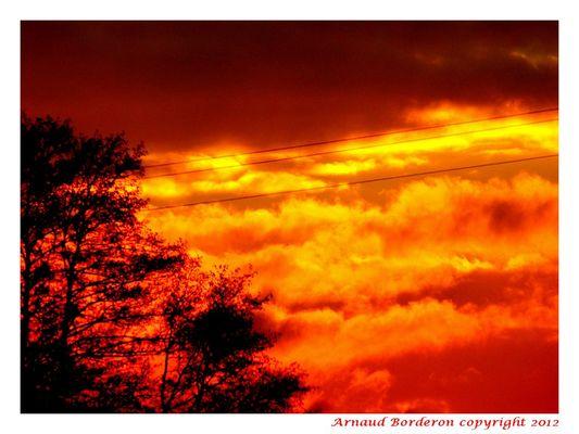 incendie d'un soir d'automne...