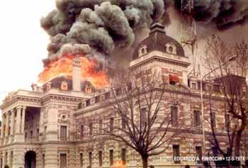 Incendio de la Gobernación. La Plata