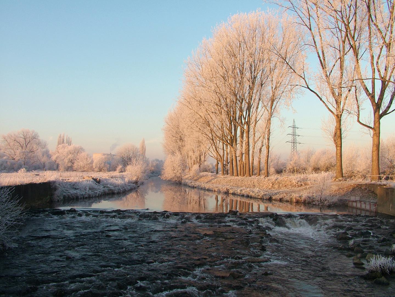 Inde am Wintermorgen