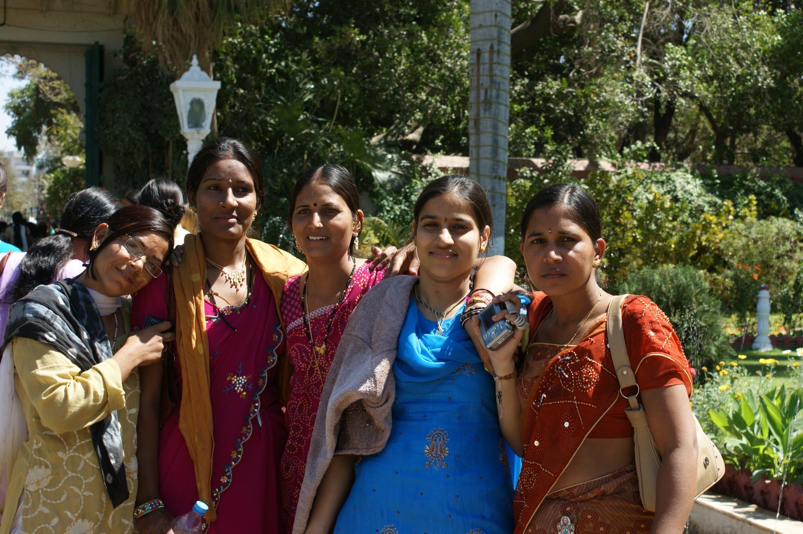 Indian Ladies in Saheliyon ki Bari Garden, Udaipur