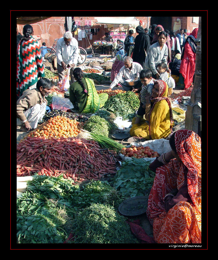 Indian market in Jaipur