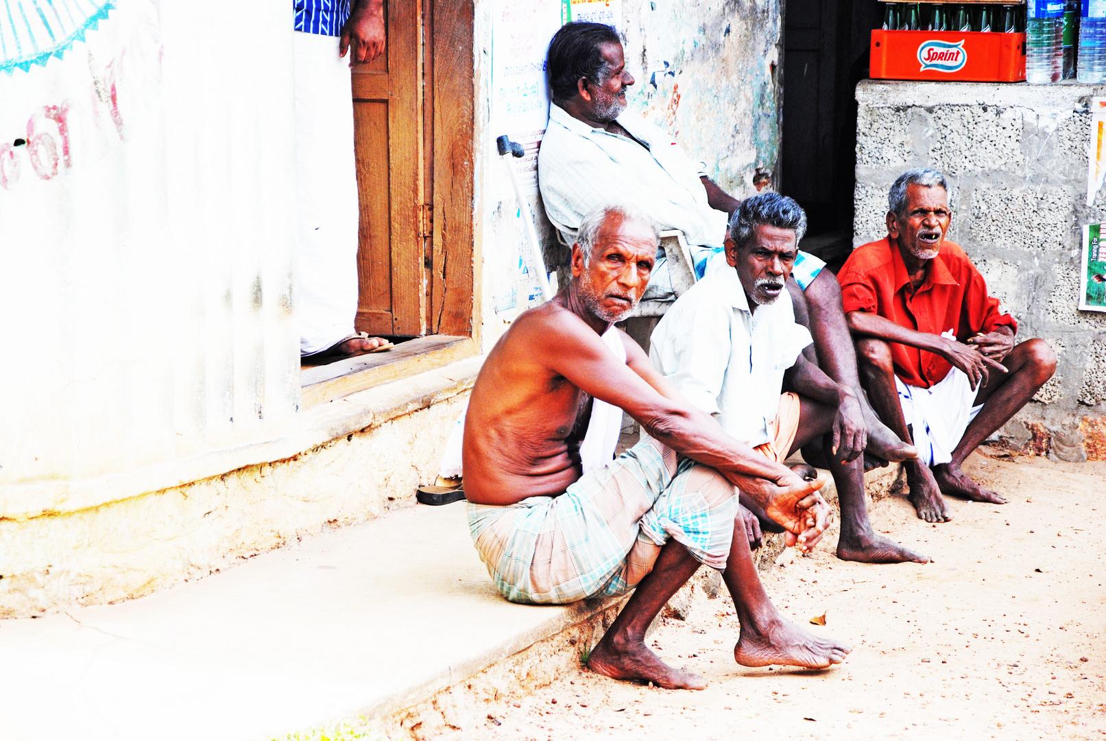 indian old men on street