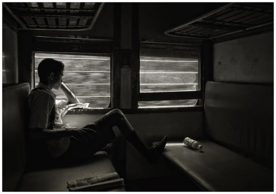Indian Railways Fensterblicke XVII