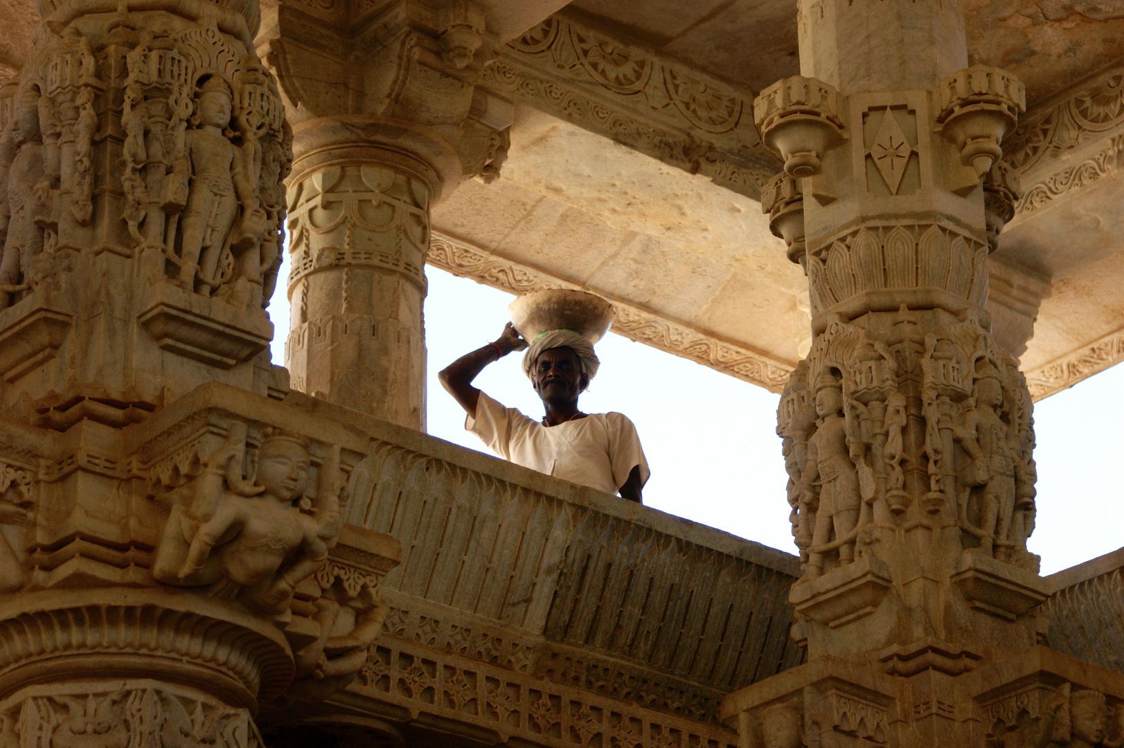 Indian Worker in Adinath-Temple, Ranakpur