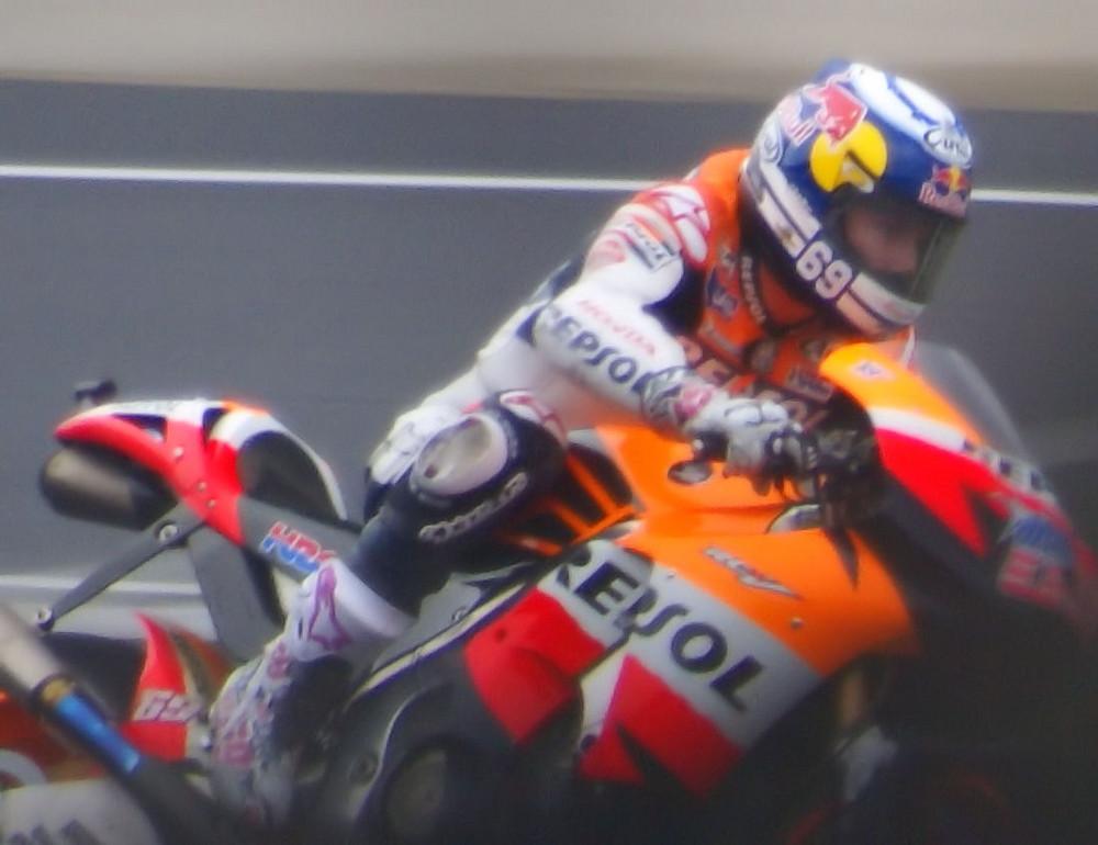 Indianapolis MotoGP Nicky Hayden in the rain