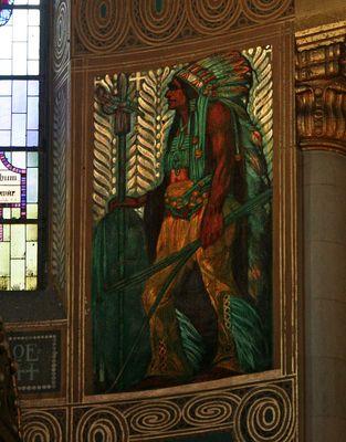 Indianer in der Apsis der Herz-Jesu-Kirche