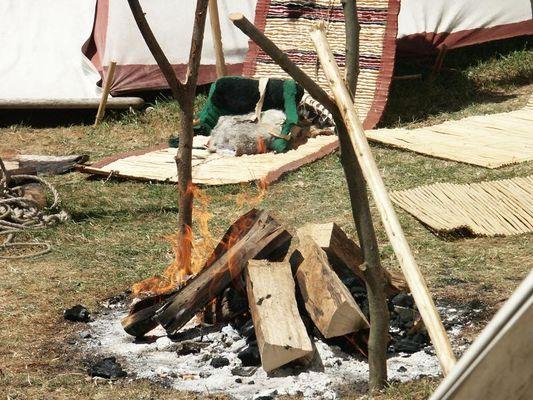 Indianer - Lagerfeuer