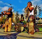Indianer mit Federn & Vogel