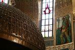 Indianerhäuptling in der Chorapsis der Herz-Jesu-Kirche in Augsburg-Pfersee